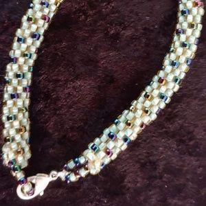 Jewelry - HAND CROCHET BEADED BRACELET